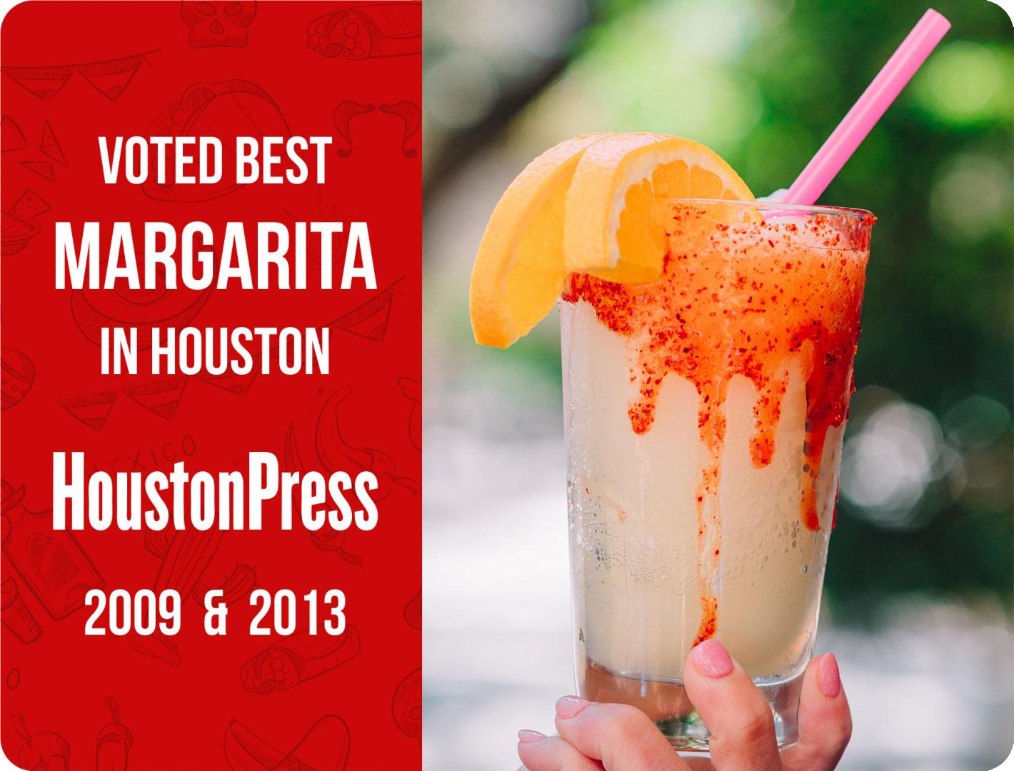 Voted Best Margarita in Houston by Houston Press
